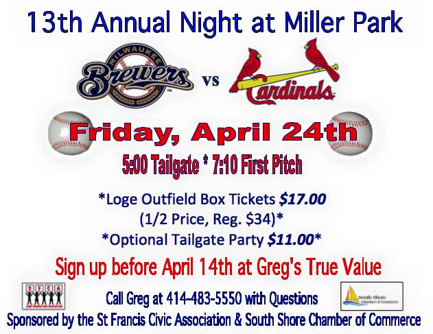 13th Annual Night at Miller Park